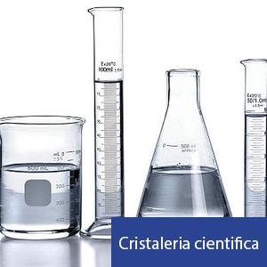 cristalería de laboratorios